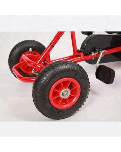 Kart cu pedale Go kart Balance  F 110 B  pentru copii cu varsta  intre 3-8 ani,roti din cauciuc cu camera,scaun reglabil,frana de mana