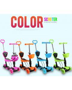 Tricicleta copii  Smart Kid  5 in 1 cu rotile luminoase