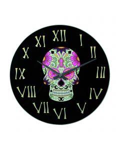 Ceas Coloured Skull II, 35 cm