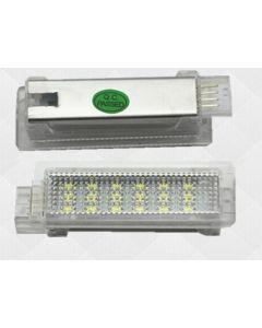 Lampi LED Portiere si Interior BMW F01, F20, F30 Lumina Alba+Rosie