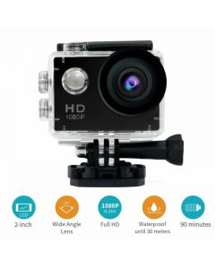 "Camera Sports full HD, 1080p, LCD de 2 "", rezistenta la 30m sub apa"