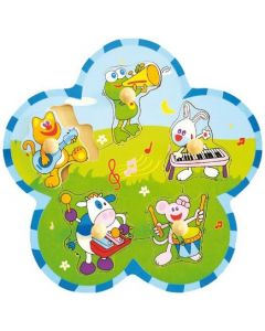Puzzle animale cu instrumente Baby Mix