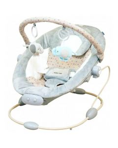Leagan muzical cu vibratii BR245 Star Grey Baby Mix