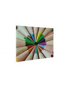 Creioane colorate ascutite - Tablou Canvas - 4Decor