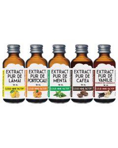 Set 5 extracte naturale 5x50 ml (cafea, lamaie, menta, portocale si vanilie)