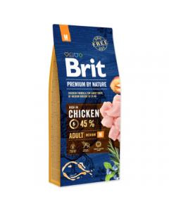 Brit Premium by Nature Adult M, 15 kg