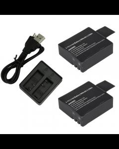 Incarcator Widjit dual + 2 baterii SJCAM