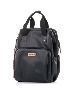 Rucsac si gentuta de infasat Chipolino black leather