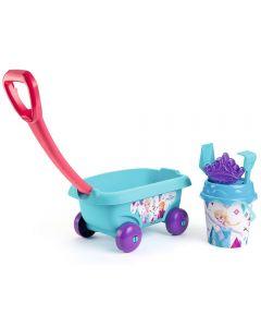 Set jucarii nisip Smoby Carucior Frozen cu accesorii