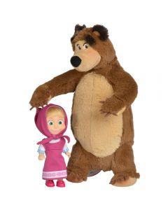 Set Simba Masha and The Bear papusa Masha 12 cm si ursulet de plus 25 cm