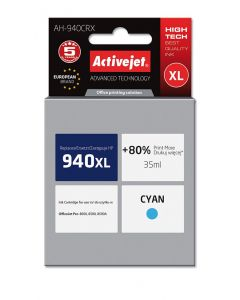 Cartus compatibil HP-940XL cyan pentru HP C4907AE, Premium Activejet, Garantie 5 ani