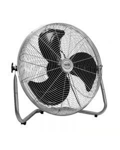 Ventilator de podea cromat, diametru paleta 40 cm, tensiune 230V, Home