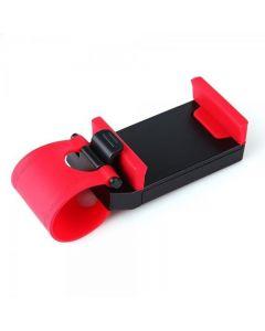 Suport auto telefon, fixare volan, reglabil, diagonala 4.8 inch