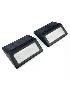 Lampa solara pentru iluminat trepte, LED lumina calda, set 2 bucati