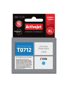 Cartus compatibil T0712 C13T071240 Cyan pentru Epson,Premium Activejet, Garantie 5 ani