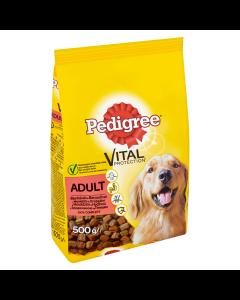 Hrana uscata cu vita si pasare pentru caini adulti Pedigree Vital 500g